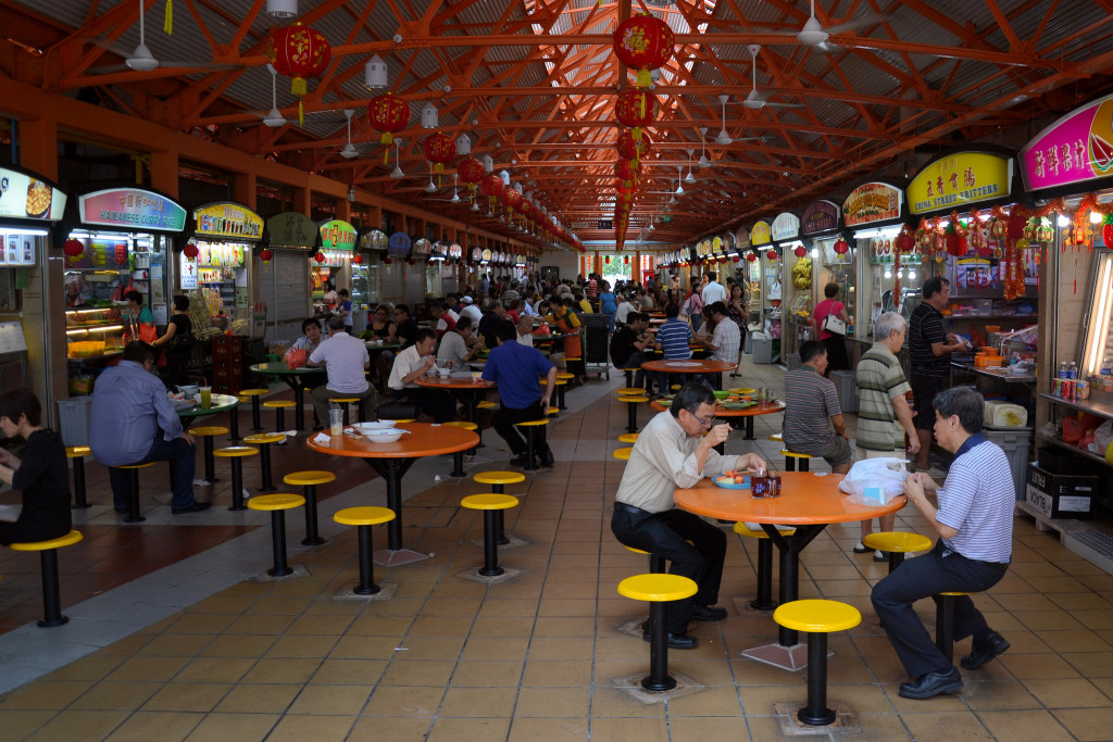 """Maxwell Road Hawker Centre"" by Aapo Haapanen / CC BY 2.0"