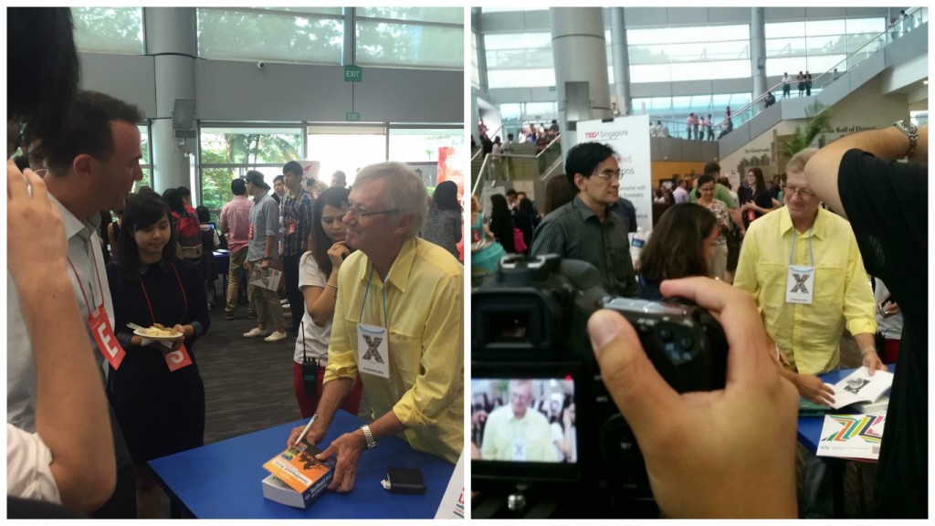 Tony Wheeler of Lonely Planet was up close and personal with TEDx-ers. Photos courtesy of Cheryl Lau and Gillian Goh.
