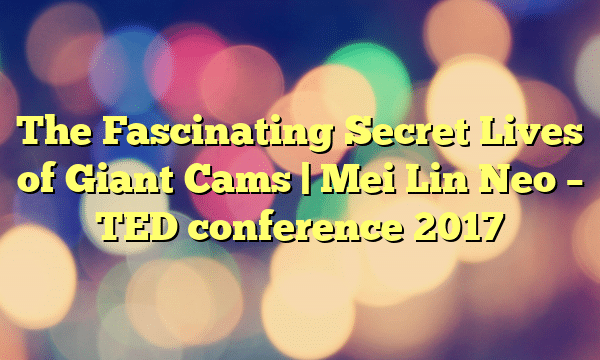 The Fascinating Secret Lives of Giant Cams | Mei Lin Neo – TED conference 2017